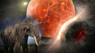 Mammoths and Other Great Beasts Peppered with Material from Space