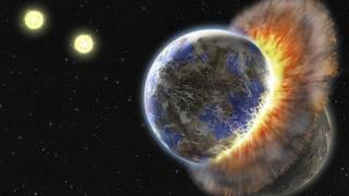Stardust evidence points to planet collision