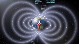 Earth's north magnetic pole racing towards Russia due to core flux