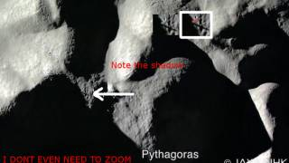 Huge Tower at the Central Peak of Pythagoras on the Moon