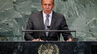 Russia says West pushing democracy with 'iron and blood'
