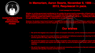 Anonymous Hacks MIT in Aaron Swartz's Name