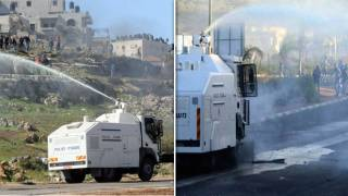 Israeli Police Caught On Video Hosing 'Skunk Spray' on Palestinian Elementary Schools and Protesters