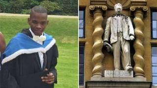 Oxford student who wants Rhodes statue down branded 'hypocrite' for taking money from trust