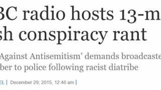"""Campaign Against Antisemitism"" Demand BBC Caller Exposing Jewish Supremacy Be Identified and Arrested"