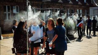 At Auschwitz-Birkenau, controversial sprinklers again make an appearance