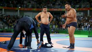 Wrestling: Furious Mongolians strip off over bronze medal defeat