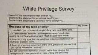 'White Privilege' Survey in High School Class Sparks Parents' Ire