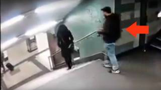 German Police Tracking Racist Who Leaked Video of Migrant Kicking Woman Down Stairs