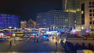 Truck Plows Through Christmas Market in Germany