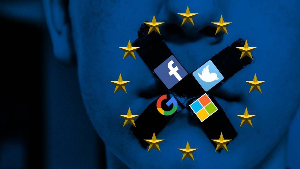 Risultati immagini per CENSORSHIP WEB EU