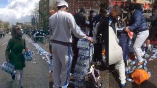 """Local Residents"" Are Filmed Stealing Dozens of Bottles of Water at London Marathon Stop"