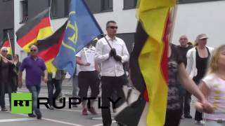 Germany: Hundreds protest against multiculturalism and refugees in Erfurt