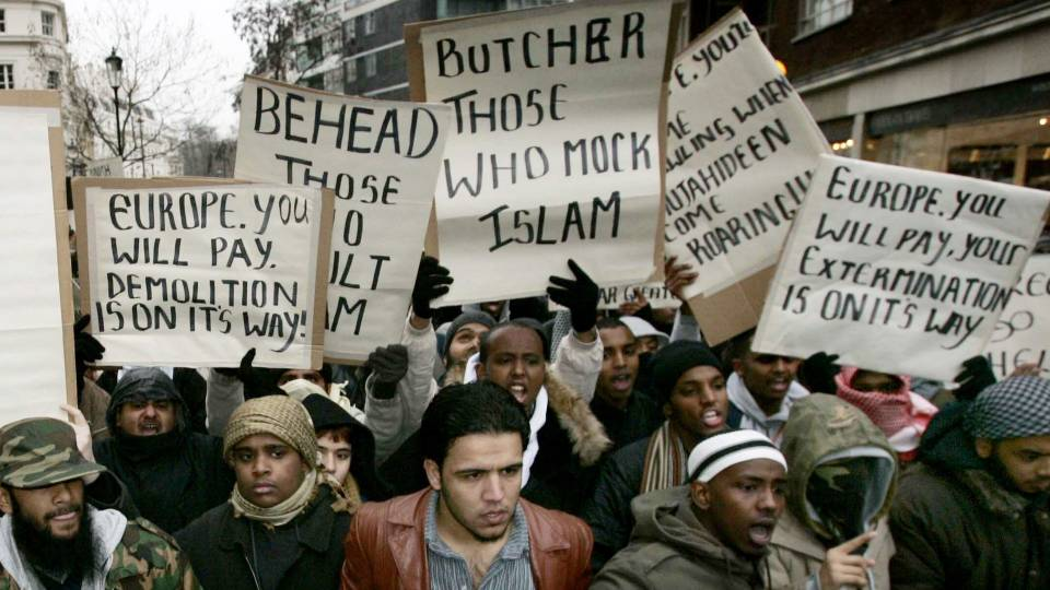 Image result for images islamic violence europe