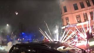 Malmö: Non-White Invaders Shoot Fireworks at Bystanders During New Year's Festivities