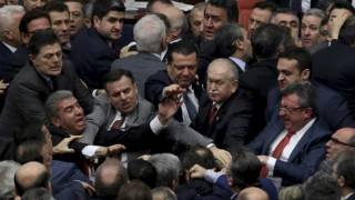 Turkish Lawmakers Brawl Over Moves to Bolster Erdogan Powers