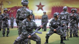 Chinese Troops on Korean Border Prepare for Combat