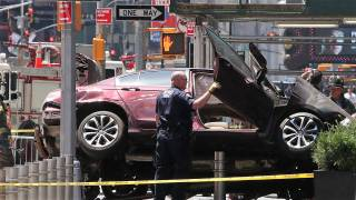 One Dead as Car Hits Times Square Crowd