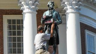 Thomas Jefferson Statue Defaced at University of Virginia