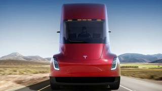 Elon Musk unveiling Tesla's new electric Semi truck and Roadster