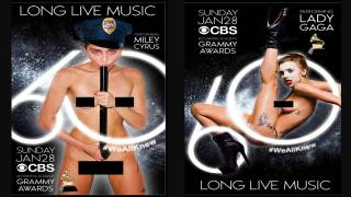 Ahead of Grammys, Sabo Attacks the Degenerate Music Industry with Nude Promo Posters