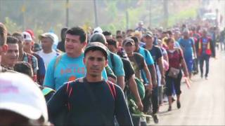 Caravan of 1,500 Central American Migrant Families Crossing Mexico to Reach U.S. Border