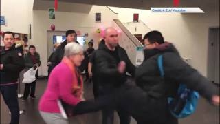 Chinese Man Kicks an Elderly White Librarian on Anti-Bullying Day