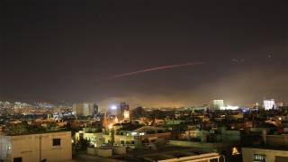 First Images of US-Led Strikes on Damascus Emerge