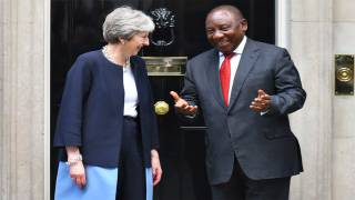 PM Meets South African President Cyril Ramaphosa
