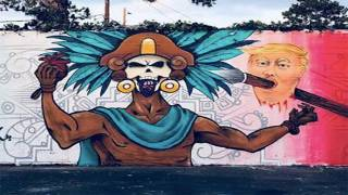 California School Mural Depicts Aztec Warrior Holding Trump's Severed Head, Heart