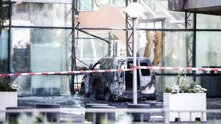 Car Rams into Top Dutch Newspaper Headquarters Causing Massive Fire
