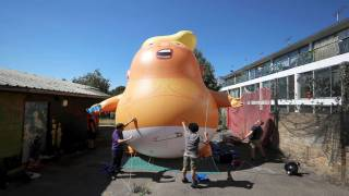 Trump 'Angry Baby' Blimp Gets Green Light to Fly over London During President's Visit