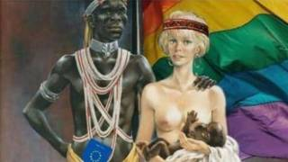 Latvian Social Democratic Workers' Party Release Ad Showing EU as an African Migrant Making Babies with Latvian Woman