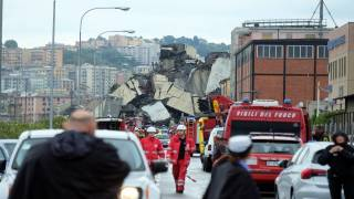 At Least 20 Dead in Highway Bridge Collapse in Genoa in Northern Italy
