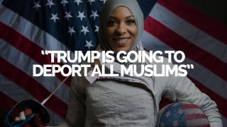 Red Ice Live - First Burqa Clad US Olympian Believes Trump will Kick out all Muslims