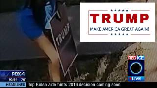 Tolerant Lefties Stealing Trump Signs Across the Country