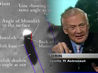 """Astronaut Buzz Aldrin comments on the """"Monolith"""" on Mars ..."""