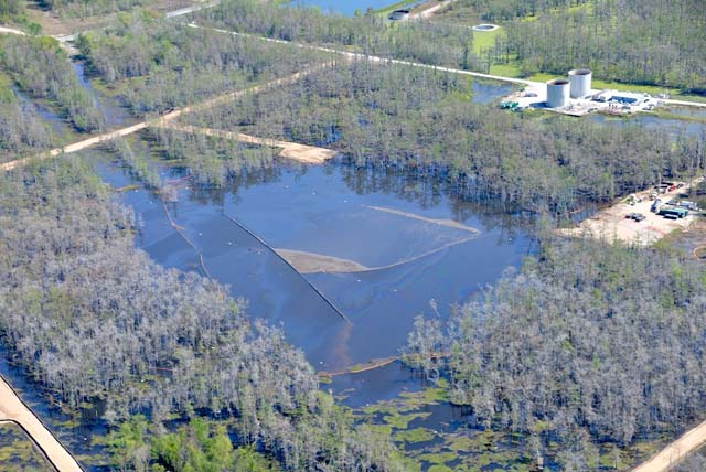 Massive Louisiana sinkhole caused by oil industry just keeps