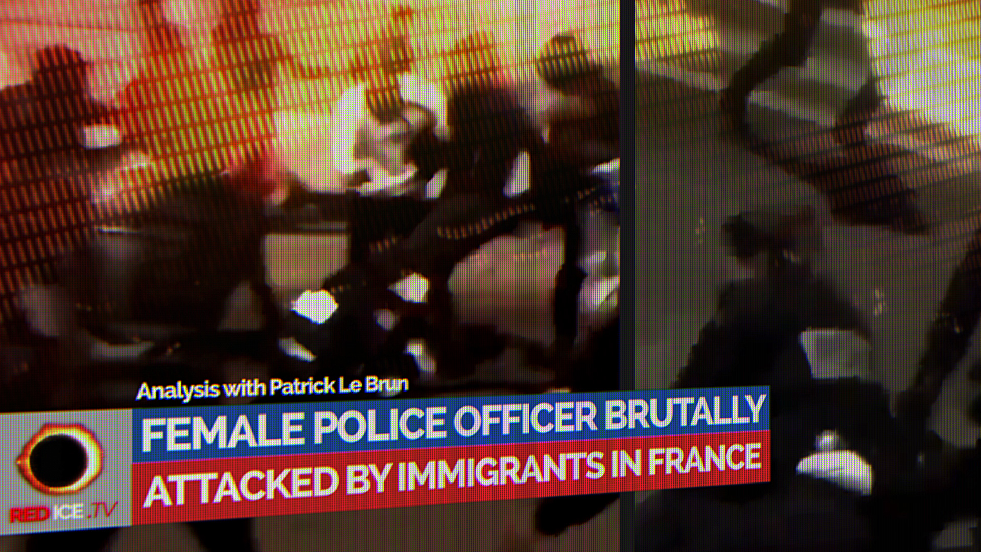 Image result for french police woman beaten by migrants