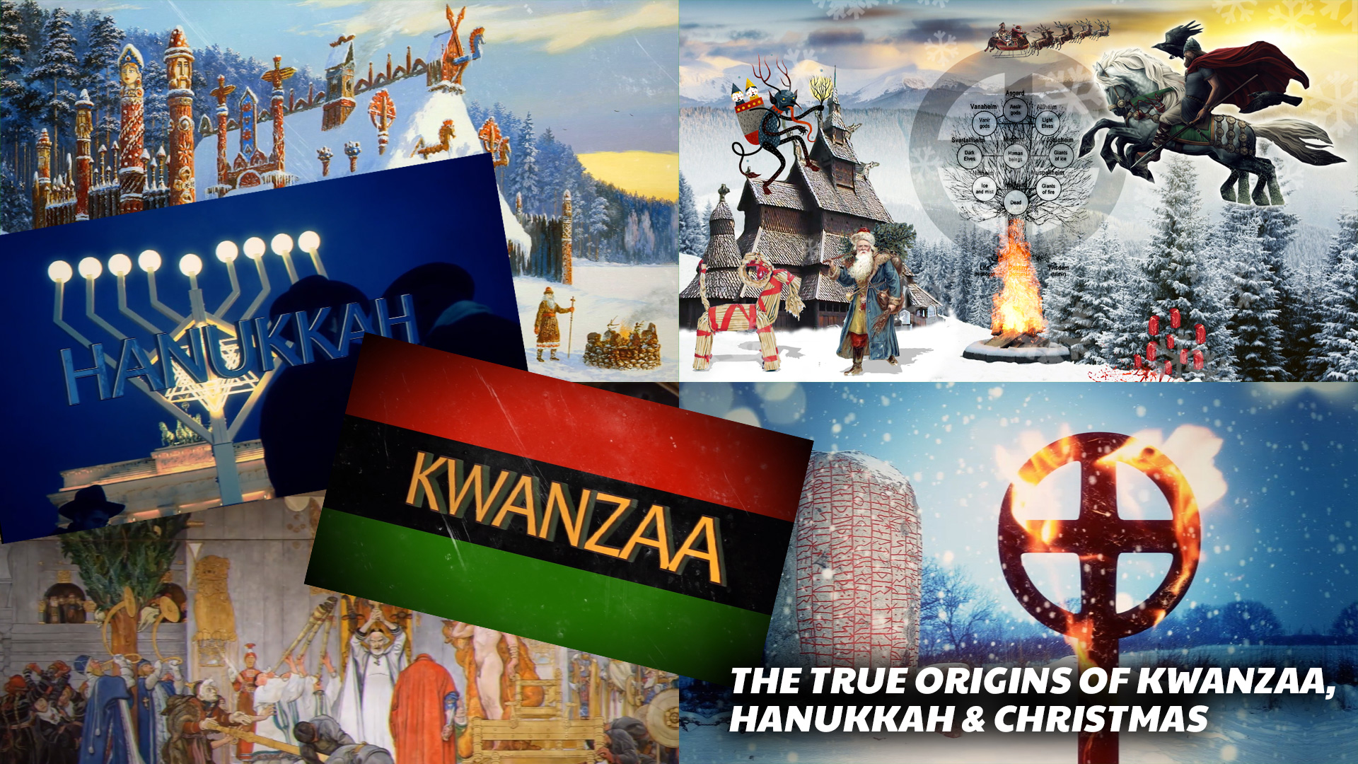 The True Origins of Kwanzaa, Hanukkah & Christmas (The Story Behind The Yule Celebration)
